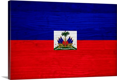 Wood Haiti Flag, Flags Of The World Series