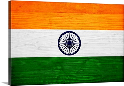 Wood India Flag, Flags Of The World Series