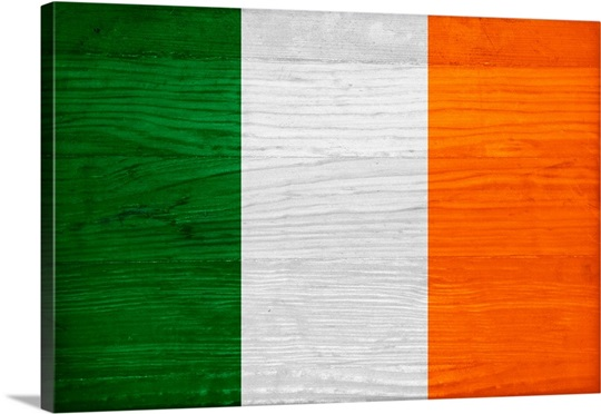 Wood Ireland Flag, Flags Of The World Series Wall Art, Canvas Prints ...