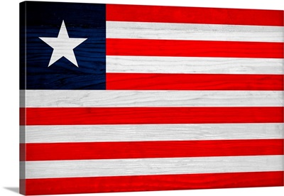 Wood Liberia Flag, Flags Of The World Series