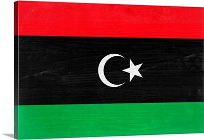 Wood Libya Flag, Flags Of The World Series