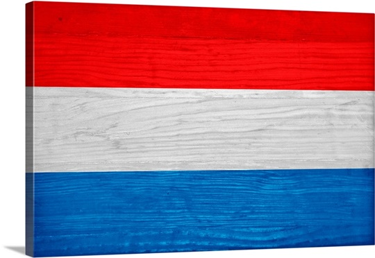 Wood Luxembourg Flag, Flags Of The World Series Wall Art, Canvas ...
