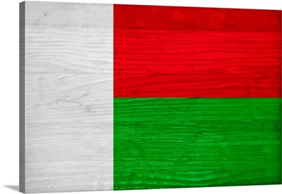 Wood Madagascar Flag, Flags Of The World Series