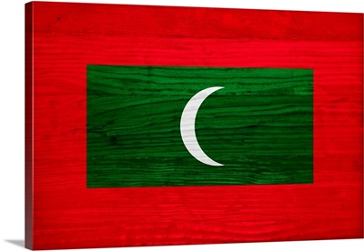 Wood Maldives Flag, Flags Of The World Series