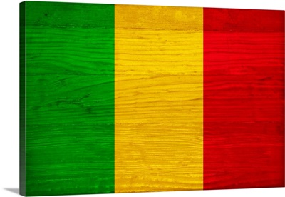 Wood Mali Flag, Flags Of The World Series