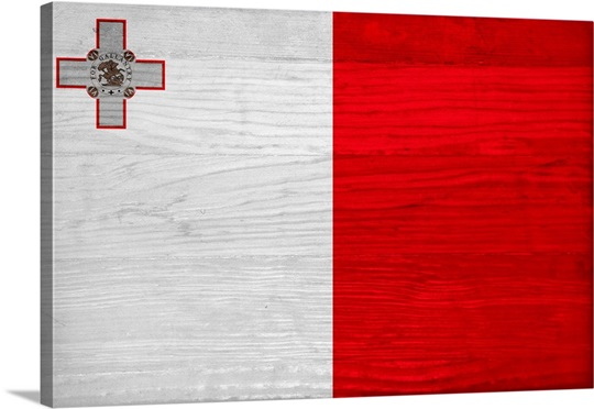 Wood Malta Flag, Flags Of The World Series Wall Art, Canvas Prints ...