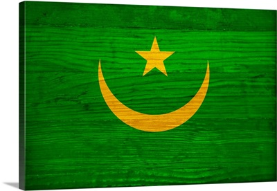 Wood Mauritania Flag, Flags Of The World Series