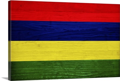 Wood Mauritius Flag, Flags Of The World Series