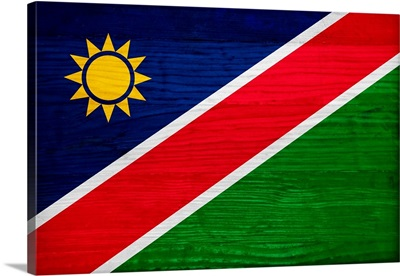 Wood Namibia Flag, Flags Of The World Series
