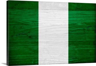 Wood Nigeria Flag, Flags Of The World Series