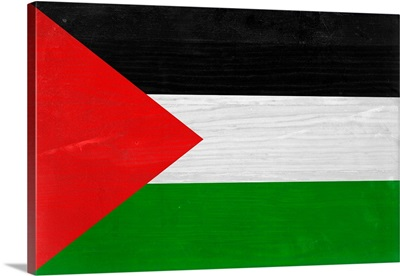 Wood Palestine Flag, Flags Of The World Series