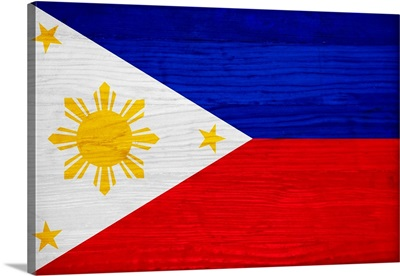 Wood Philippines Flag, Flags Of The World Series