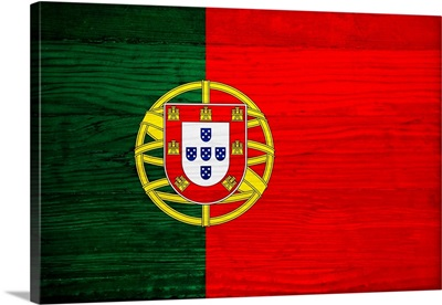 Wood Portugal Flag, Flags Of The World Series