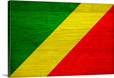 Wood Republic Of The Congo Flag, Flags Of The World Series
