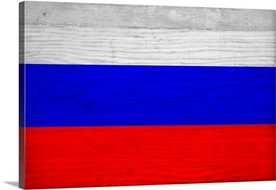 Wood Russia Flag, Flags Of The World Series