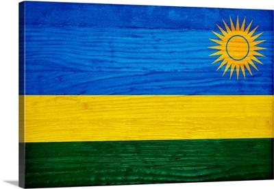Wood Rwanda Flag, Flags Of The World Series