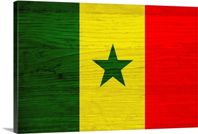 Wood Senegal Flag, Flags Of The World Series