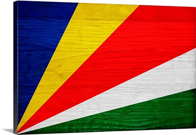 Wood Seychelles Flag, Flags Of The World Series