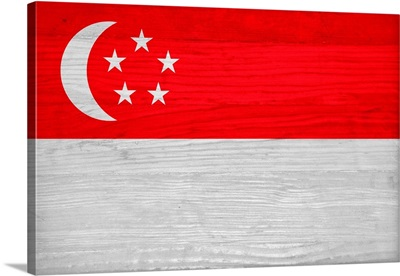 Wood Singapore Flag, Flags Of The World Series