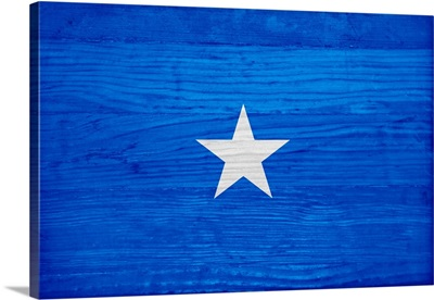Wood Somalia Flag, Flags Of The World Series