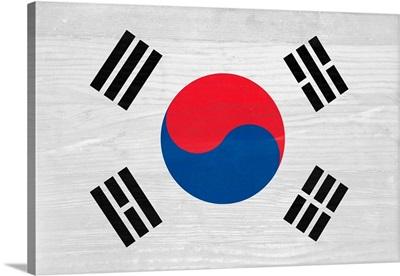 Wood South Korea Flag, Flags Of The World Series