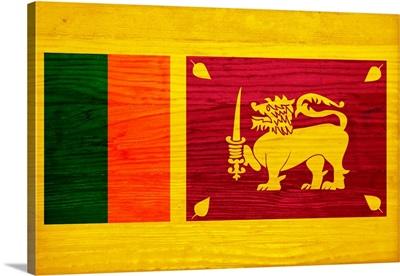 Wood Sri Lanka Flag, Flags Of The World Series