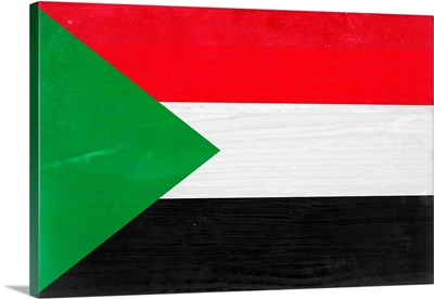 Wood Sudan Flag, Flags Of The World Series
