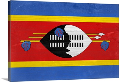 Wood Swaziland Flag, Flags Of The World Series