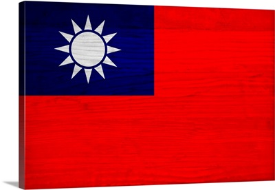 Wood Taiwan Flag, Flags Of The World Series