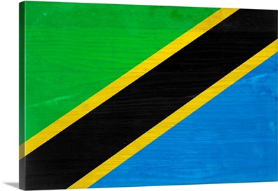 Wood Tanzania Flag, Flags Of The World Series