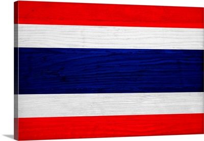 Wood Thailand Flag, Flags Of The World Series