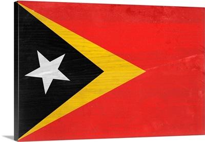 Wood Timor-Leste Flag, Flags Of The World Series