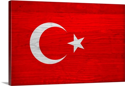 Wood Turkey Flag, Flags Of The World Series