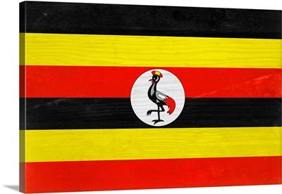 Wood Uganda Flag, Flags Of The World Series
