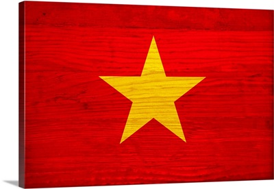 Wood Vietnam Flag, Flags Of The World Series
