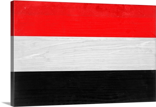 Wood Yemen Flag, Flags Of The World Series Wall Art, Canvas Prints ...