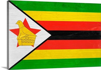 Wood Zimbabwe Flag, Flags Of The World Series