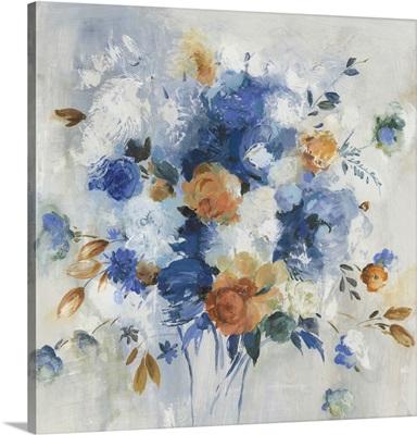 Blue Grande Floral