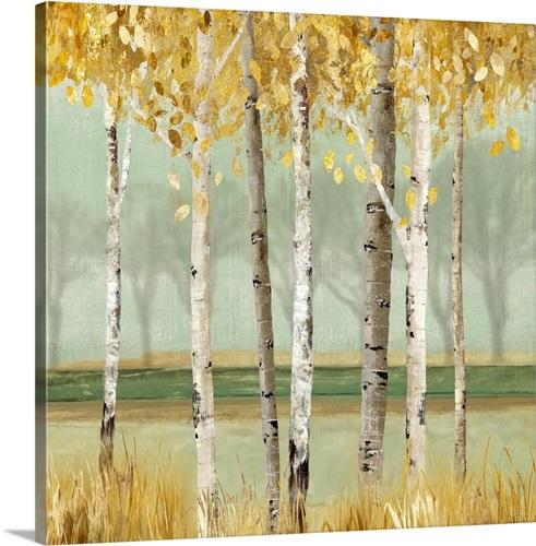 Golden Birch Wall Art, Canvas Prints, Framed Prints, Wall Peels ...