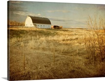 Prairie Barn In Morning