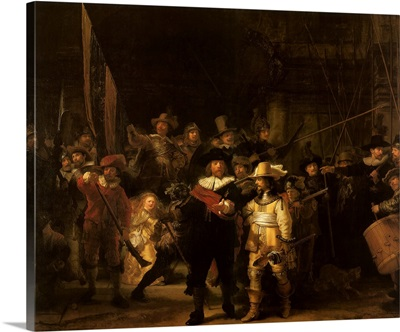 Captain Frans Banningh Cocq Gives Lieutenant an Order