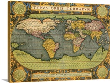 Oval World Map 1598