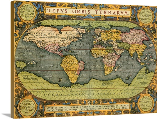 Oval world map 1598 wall art canvas prints framed prints wall oval world map 1598 gumiabroncs Choice Image