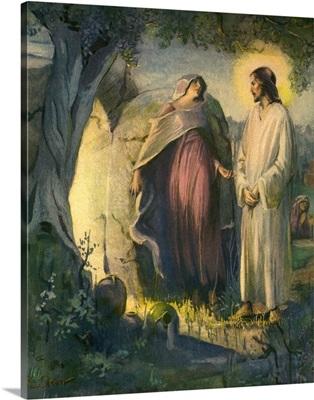 Risen Jesus with Woman