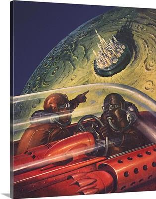 Sci Fi - Men Spot Crater City