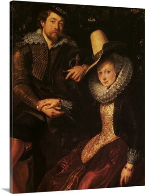 Self-Portrait with the Artist's Wife, Isabella Brandt