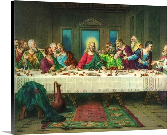 The Last Supper Wall Art Canvas Prints Framed Prints