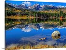 Autumn Mirror at Sprague Lake in Rocky Mountain National Park