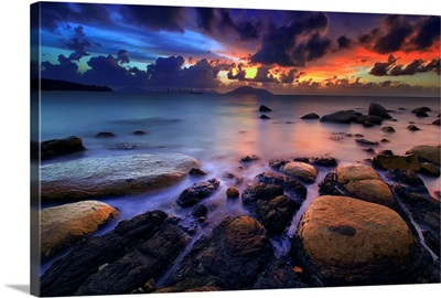 Full Color on Omong Beach
