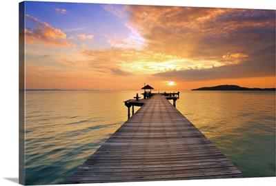 Morning Sea with Vivid Sky
